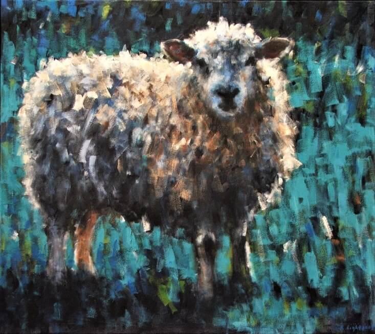 Sheep Turquoise Landscape