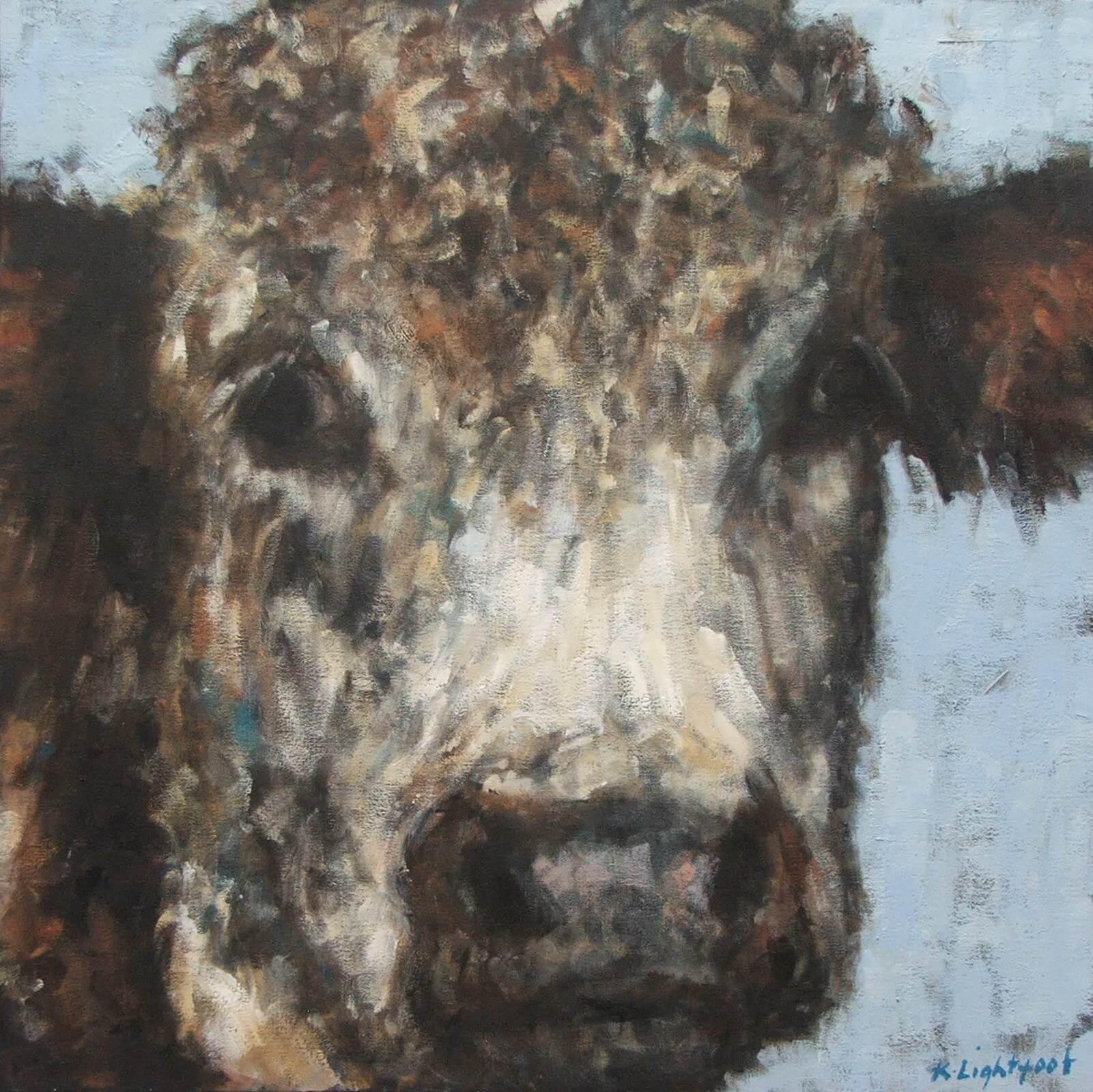 Cow Pale Blue